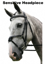 Sabre Cordoba  Sensitive Mexican Grackle Snaffle Comfort Bridle